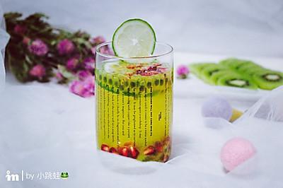 百香果青柠蜂蜜饮