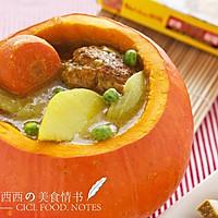 咖喱肉圆煲#奇妙咖喱 拯救萌娃食欲#