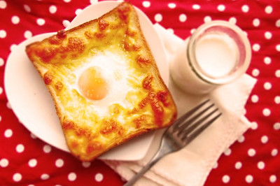 快手早餐-奶酪吐司蛋(A+B版)