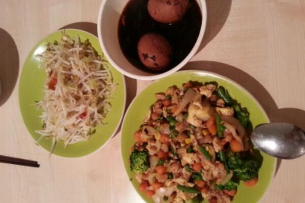虾仁蔬菜炒蛋的做法
