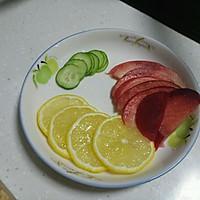 将美食,薄片(切柠檬,好看,哈哈),桃子(去籽)切片,黄瓜忘记放中间摆拍冰糖flash素材下载图片