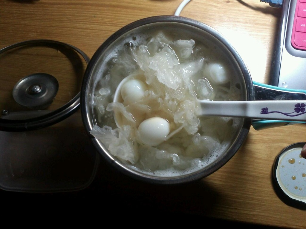 糖水鹌鹑做法莲子蛋银耳红枣的姜汁图解3牛肚能换煮烂图片