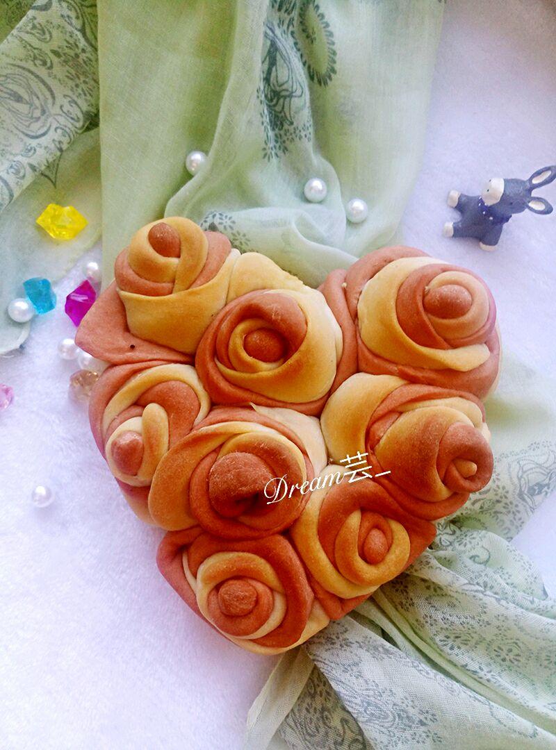 玫瑰花包的做法图解1