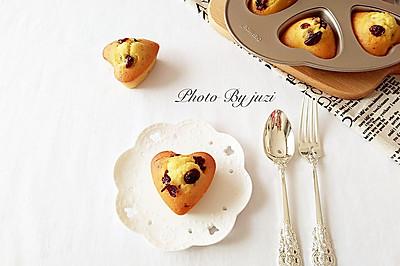 蔓越莓爱心蛋糕