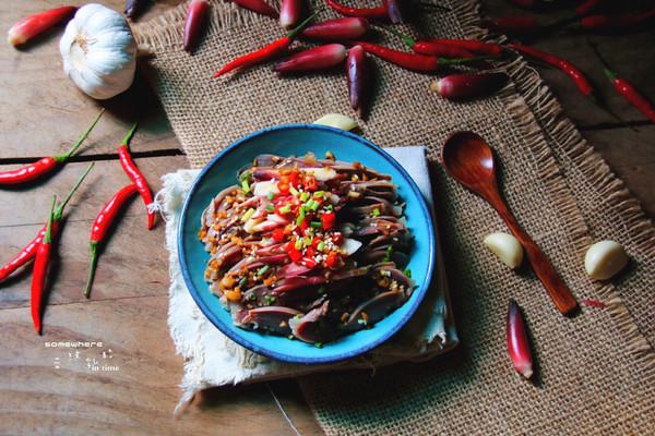 茗荷拌鸭胗#金龙鱼外婆乡小榨菜籽油,最强家乡菜#的做法