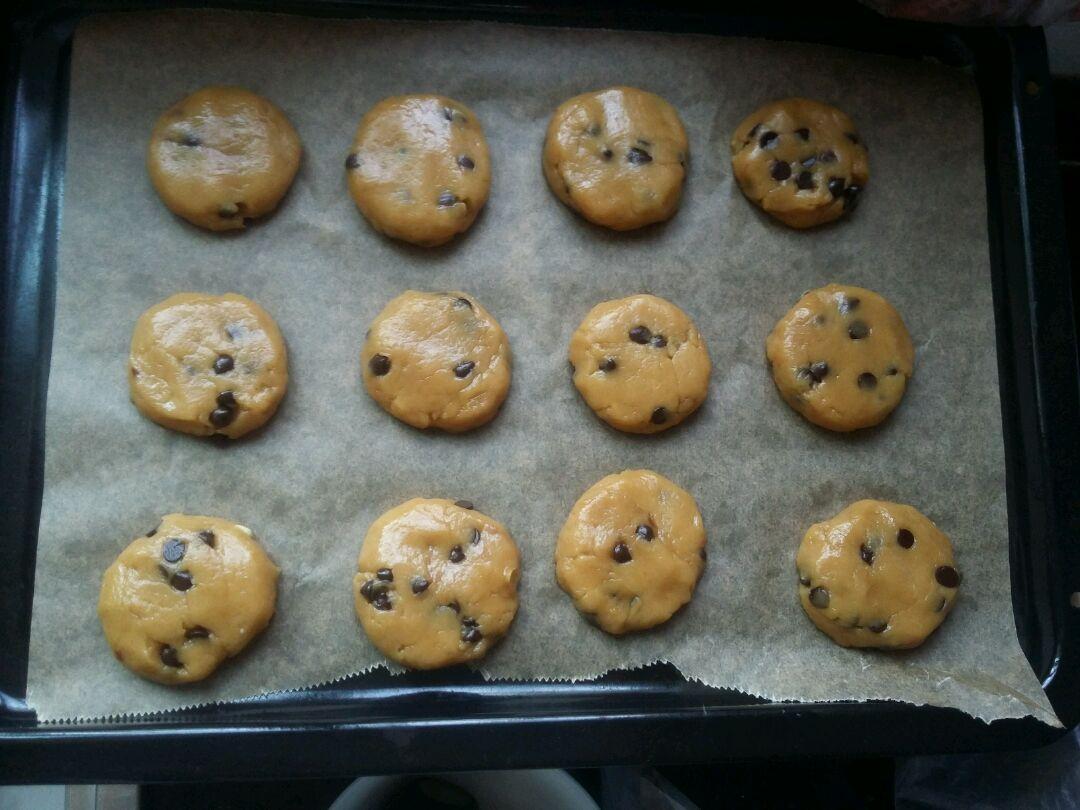 美的绅士烤箱#趣多多巧克力饼干的做法图解2