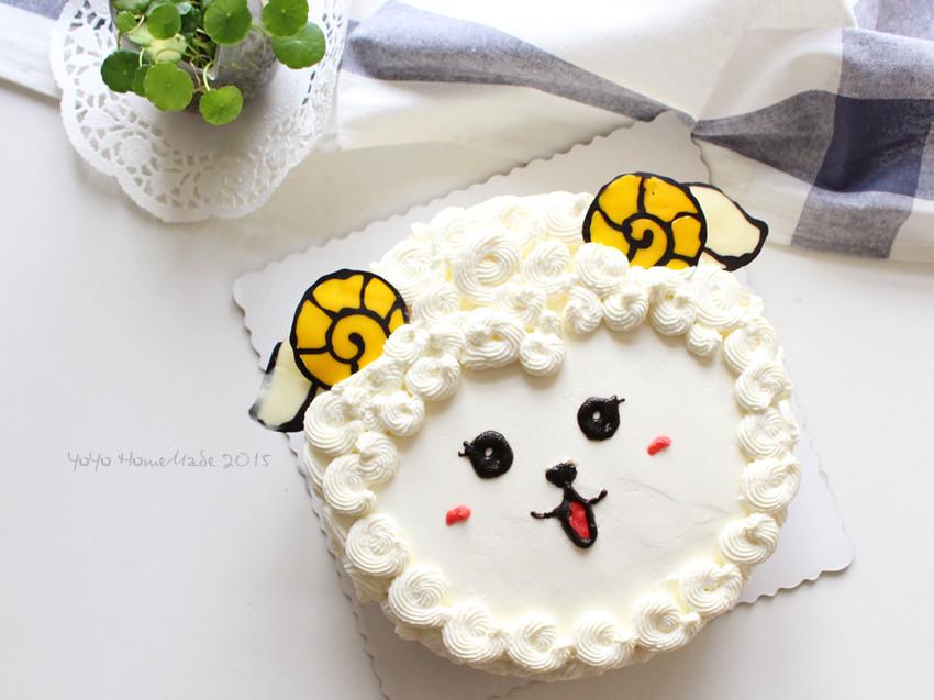 羊年也要萌萌哒--咩咩奶油蛋糕