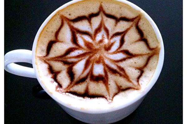 简单的咖啡拉花