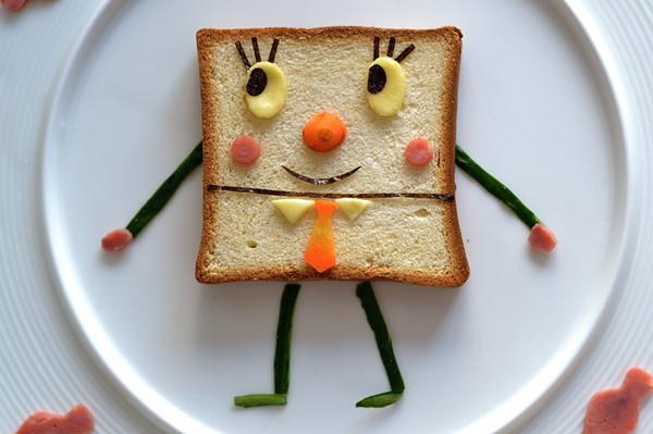 心情好胃口更好,可爱的海绵宝宝早餐的做法图解3