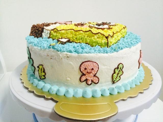 详细教程【海绵宝宝蛋糕】