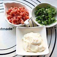 香肠沙拉玫瑰花面包#有颜值的实力派#的做法图解6