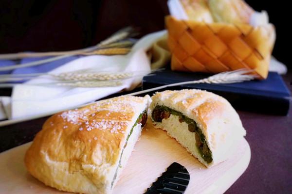 抹茶麻薯哈斯面包#有颜值的实力派#的做法
