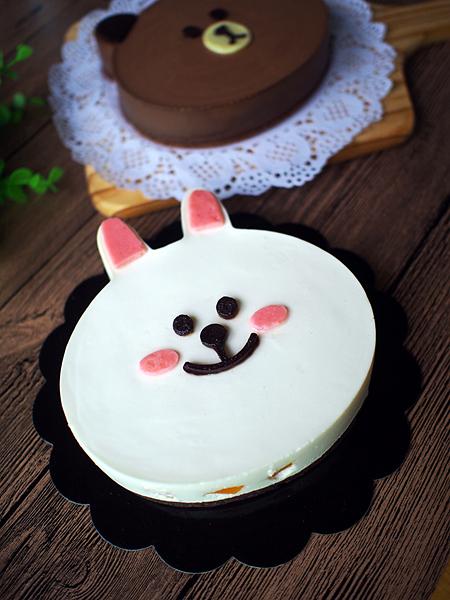 布朗熊&可妮兔(巧克力&酸奶慕斯蛋糕)的做法图解17