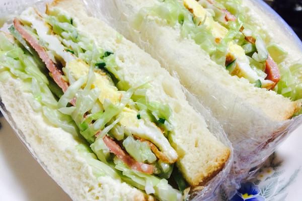 低卡路里#快手早餐 蔬菜三明治的做法步骤        本菜谱的做法