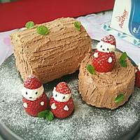 圣诞树根蛋糕#安佳烘焙学院#