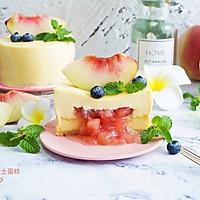 蜜桃流心双层芝士蛋糕 #KitchenAid的美食故事#