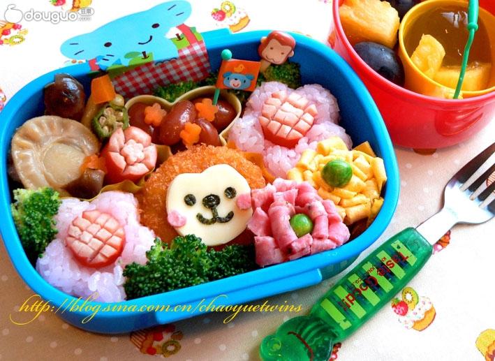 動物園的小猴子可愛便當的做法_【圖解】動物園的小 ...