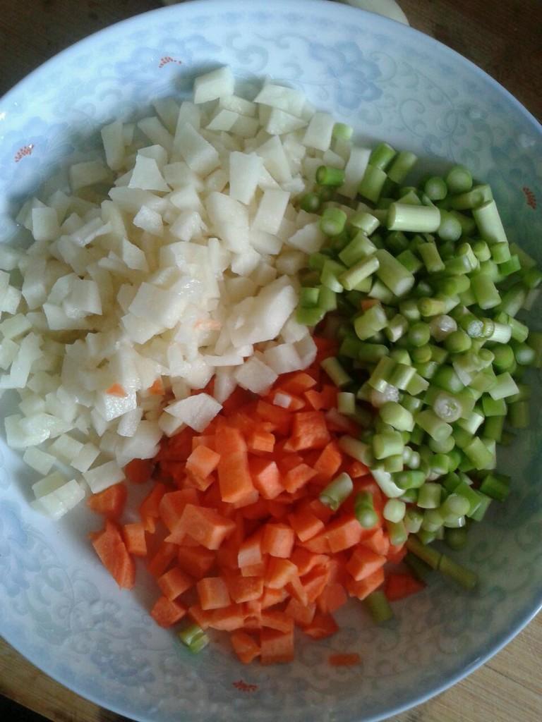 培根炒饭的做法图解2