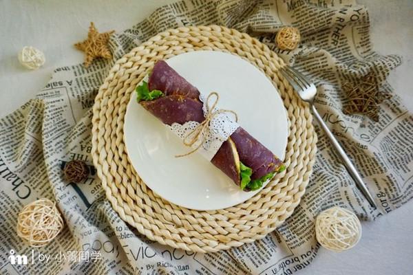 紫薯鸡蛋卷饼#每道菜都是一台时光机#的做法