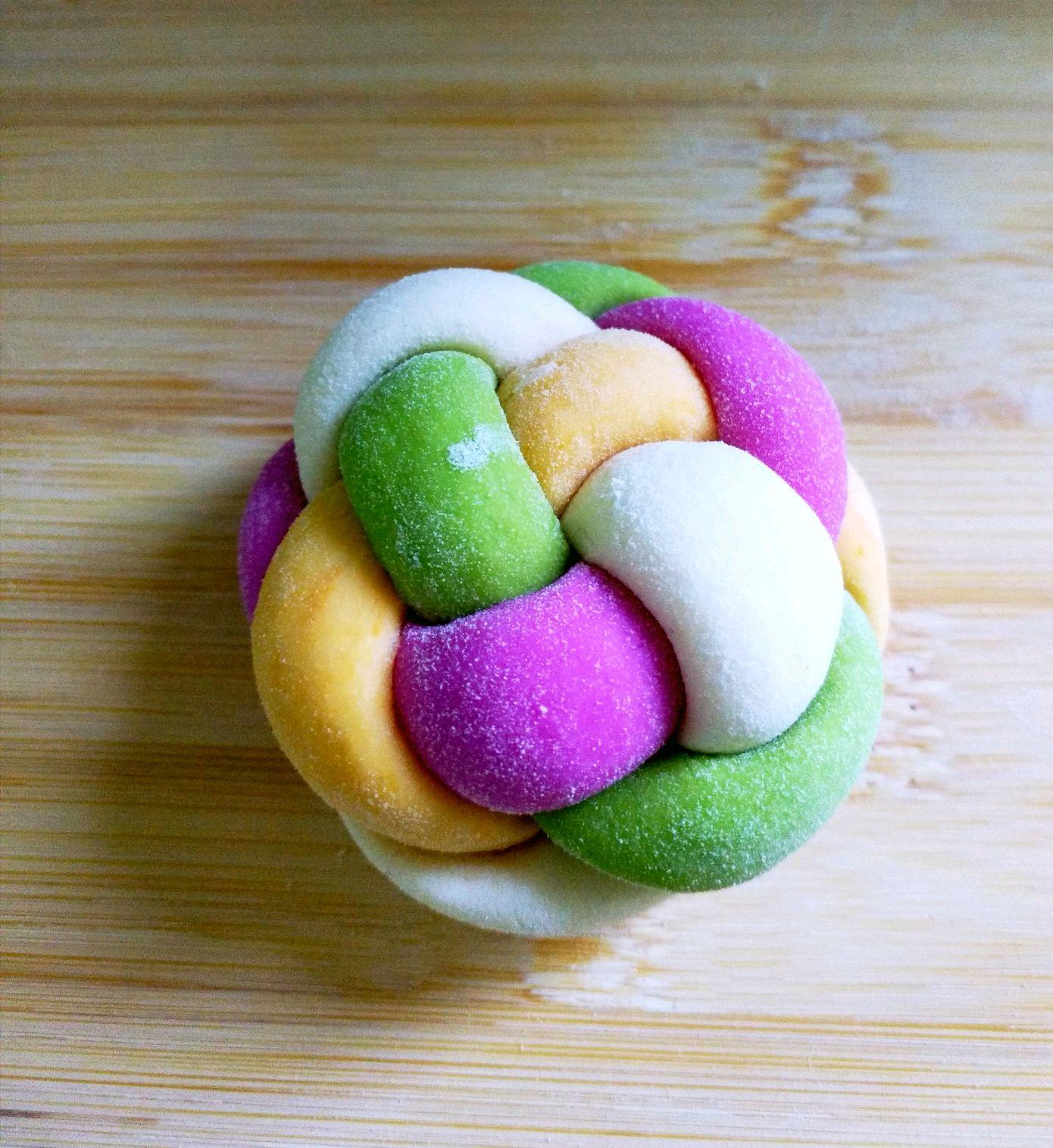 多彩蔬菜绣球馒头的做法图解12