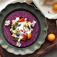 用紫薯做一个花环,才配的上这春天的颜色。
