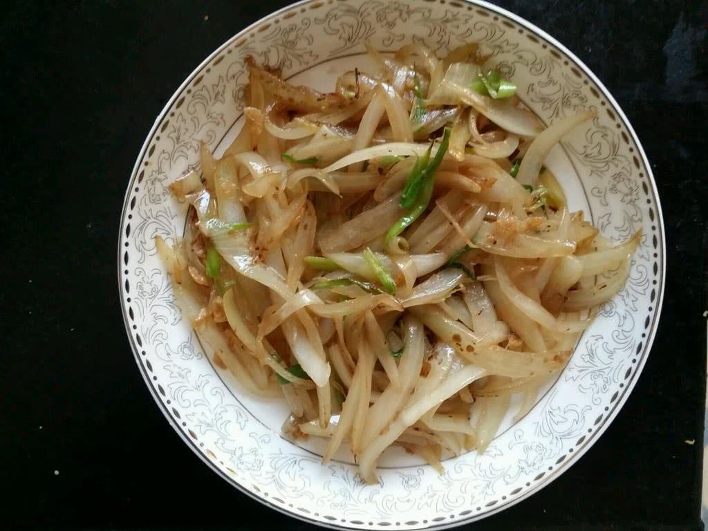 洋葱虾皮的做法_【图解】洋葱虾皮怎么做如何做好吃