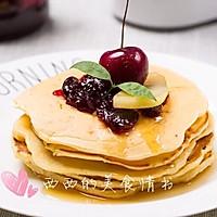 自制天然樱桃果酱松饼+#快乐宝宝餐#