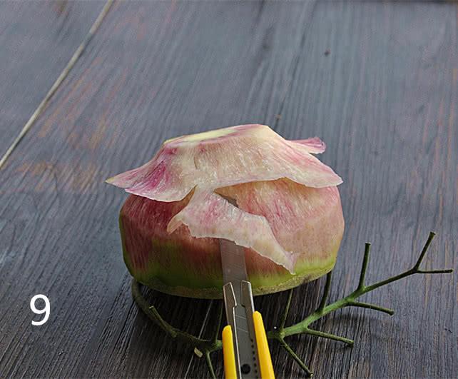雕刻萝卜花的做法_【图解】雕刻萝卜花怎么做如何做