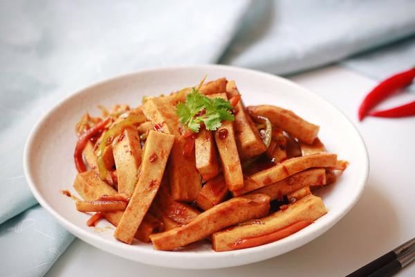 鱼香千叶豆腐条|懒人福音&下饭利器的做法