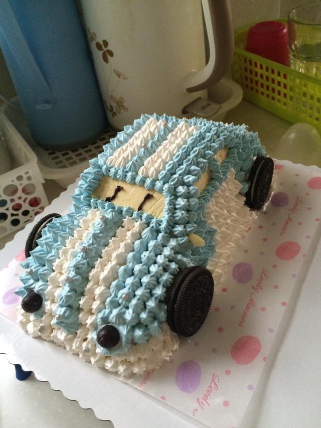 芒果慕斯小汽车蛋糕