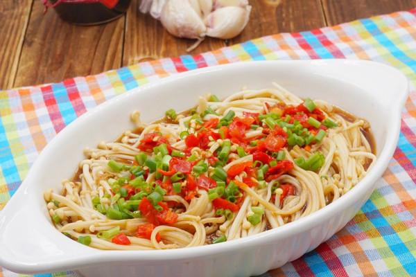 超快手金针菇#美的微波炉菜谱#的做法