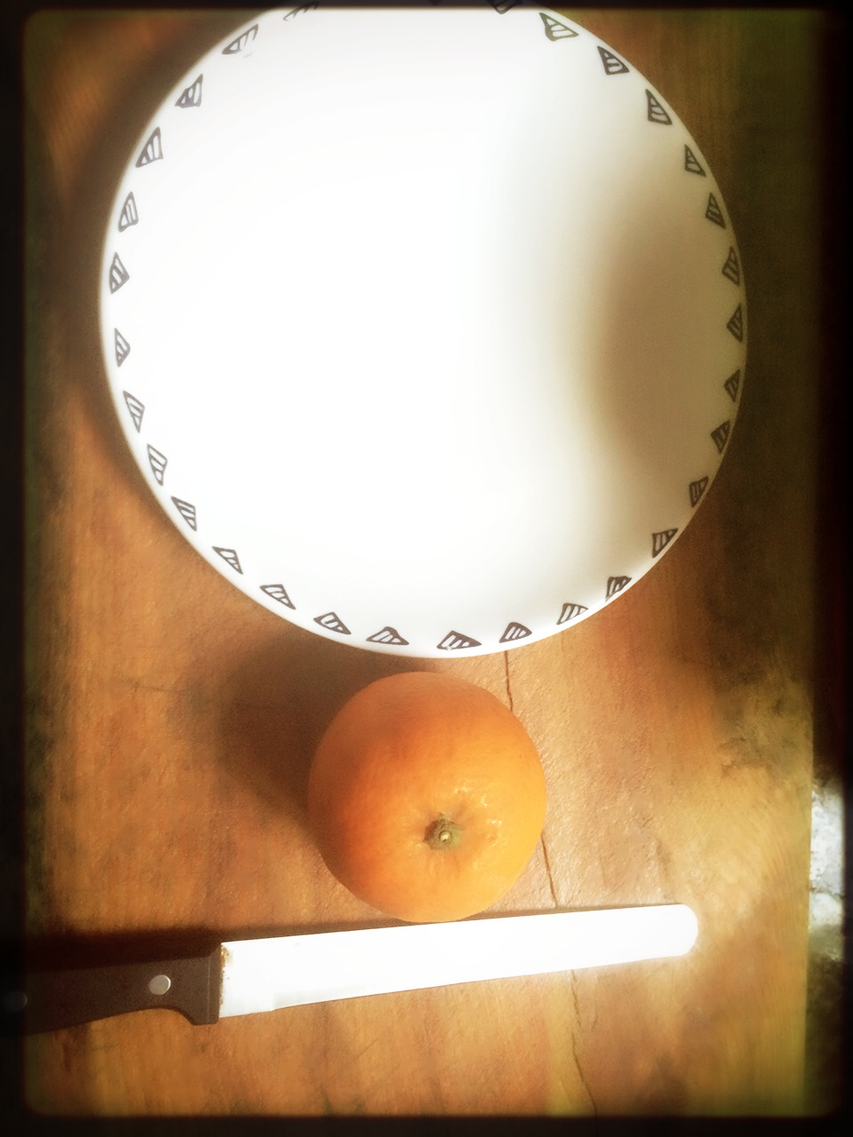 花式切橙(水果摆盘)的做法图解1