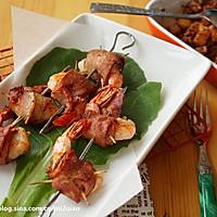 吊烤培根鲜虾卷---格兰仕百变金刚立式烤箱试用报告5