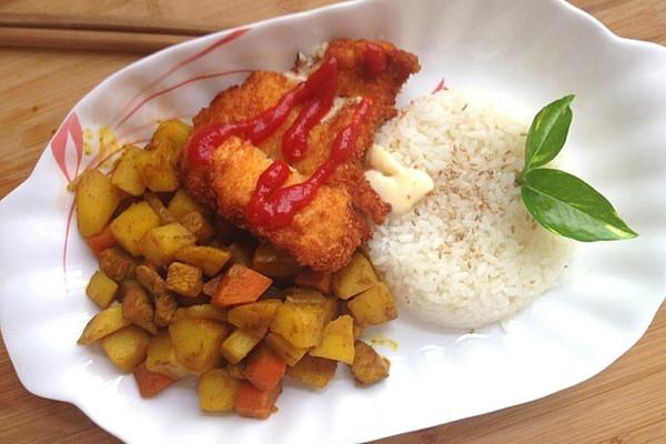 芝士爆浆鸡排_爆浆鸡排咖喱饭的做法_【图解】爆浆鸡排咖喱饭怎么做如何做好 ...