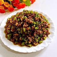 蚝油尖椒炒肉末#厨次之外,锦享美味#