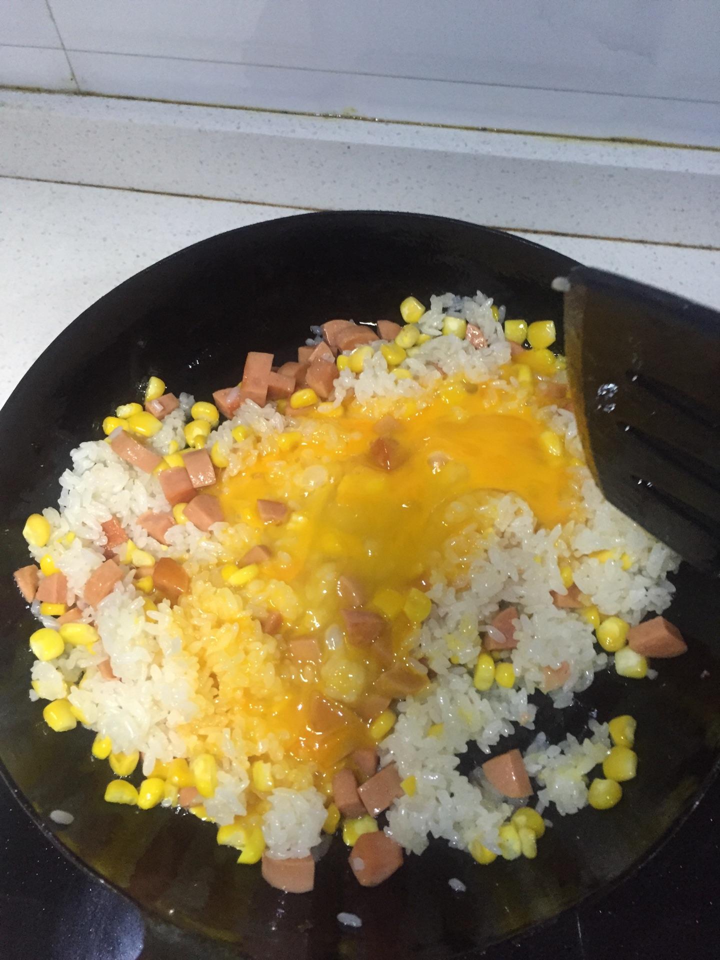 黄金蛋炒饭的做法图解5