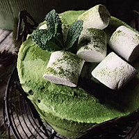和风竹炭抹茶布丁蛋糕