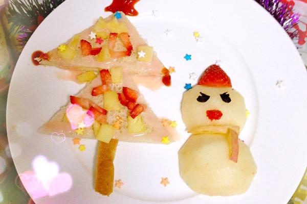 番茄酱 装饰糖 圣诞儿童餐之水果开会的做法步骤 小贴士 海苔造型图片