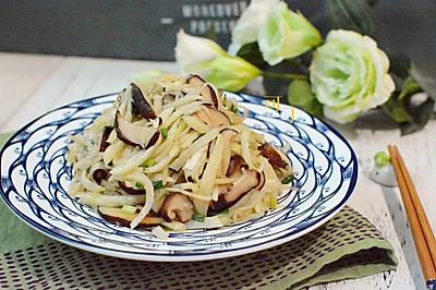 香菇炒茭白:快手家常素菜