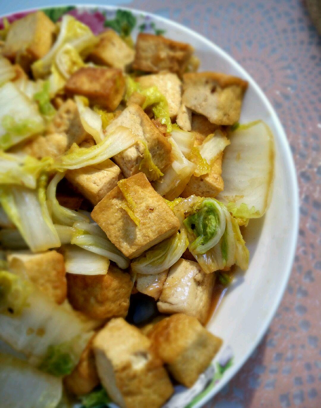 白菜家常做法的豆腐合家欢家常菜廊坊图片