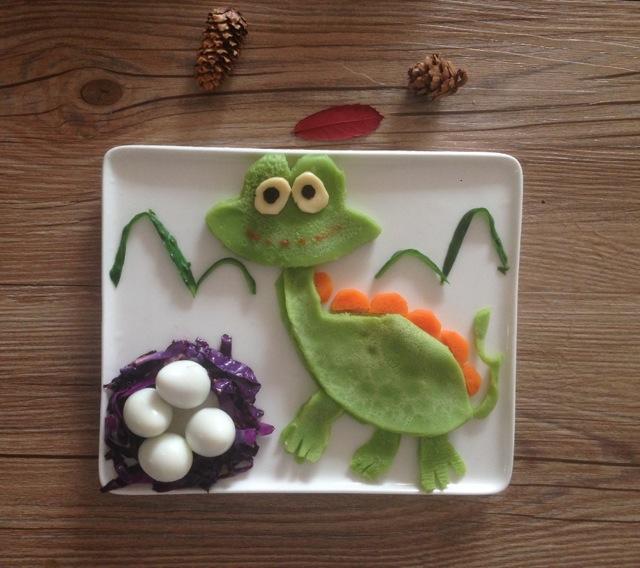 宝宝创意童趣早餐之恐龙的做法图解6图片