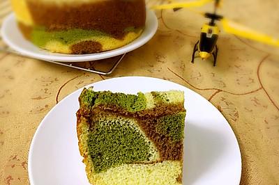 迷彩蛋糕--海绵体