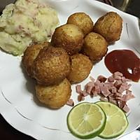 土豆沙拉+芝士黄金土豆球儿