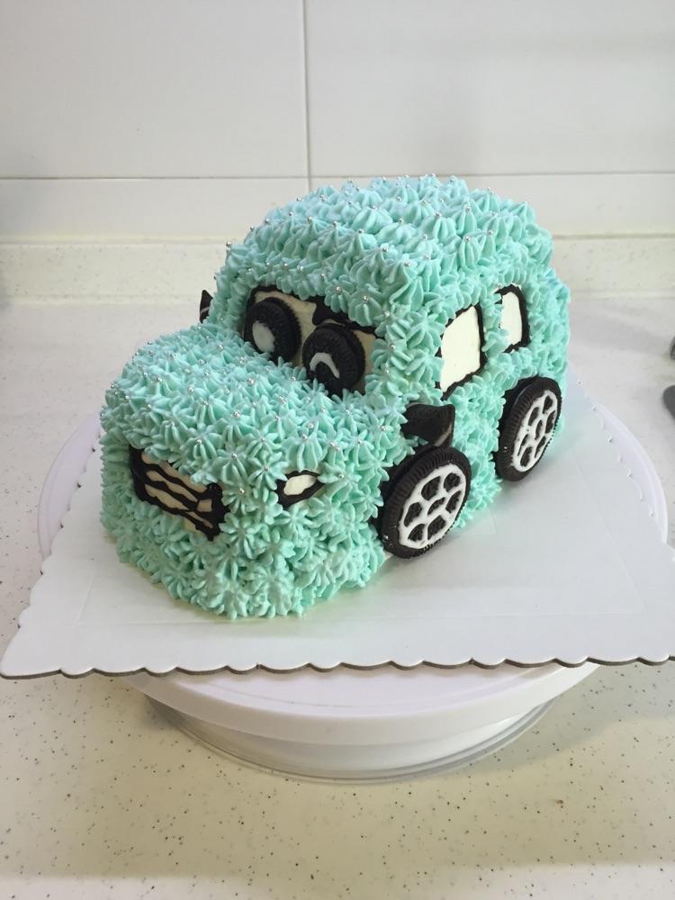 小汽车蛋糕的做法图解12