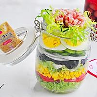 彩虹蔬菜沙拉罐#丘比沙拉汁#