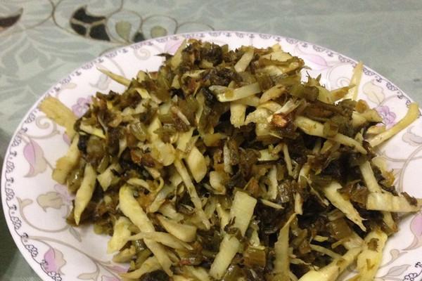 笋丝炒咸菜的做法