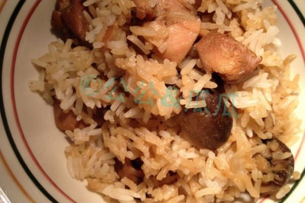 小鸡蘑菇焖饭 的做法