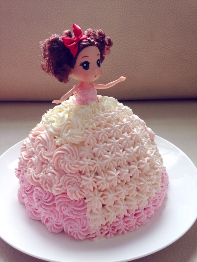芭比小公主生日蛋糕