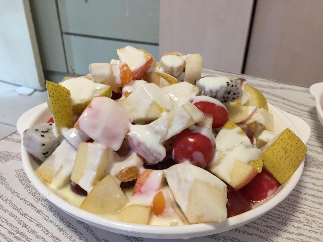 9元) 减肥水果沙拉的做法步骤 1.