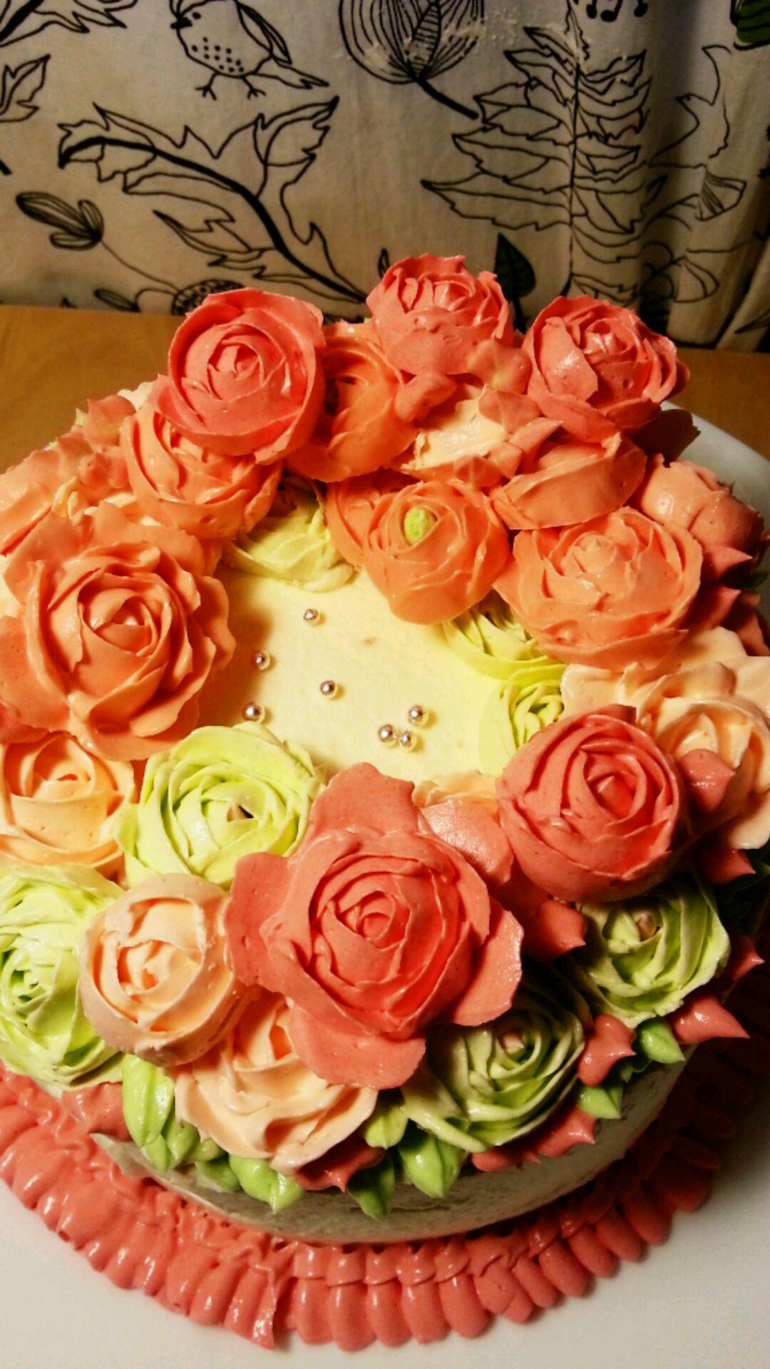 6寸奶油霜裱花蛋糕a110的做法_【图解】6寸奶油霜裱花